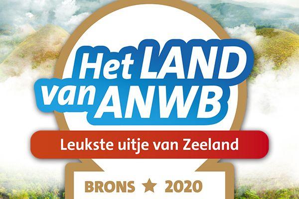 Brons in de ANWB verkiezing van leukste uitjes van Zeeland!